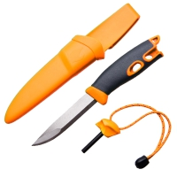 2 в 1 - Нож + огниво LIGHT MY FIRE FireKnife (22.5х4.5х4.5см), оранжевый