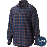 Рубашка мужская MARMOT Fairfax Flannel LS (p.S), синяя клетка