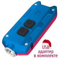 Lantern Nitecore TIP Winter Edition (Cree XP-G2, 360 lumens, 4 modes, USB), red/blue
