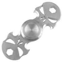 2 в 1 - Спиннер + мультитул с набором бит Skull (75х25мм), стальной