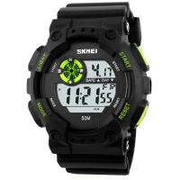 Watch Skmei Mod.1101, black / green, in metal box