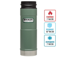 Термокружка Stanley Classic One Hand (0.47л), зеленая