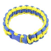 Браслет из паракорда Cobra (длина изделия: 20-21.5см, длина паракорда: 250-275см), желтый/синий