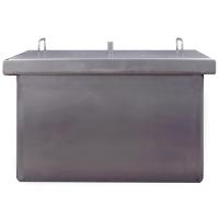Коптильня двухъярусная с гидрозатвором для горячего копчения (400х300х280mm)