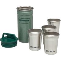 Набор Stanley Adventure (4 рюмки + фляга (0.59л)), зеленый