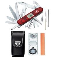 Набор Victorinox EXPEDITION-KIT (нож (91мм, 33 функции)+точилка+компас+фонарь), с чехлом 1.8741.AVT