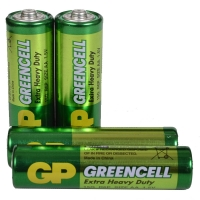 Батарейка солевая AA Greencell (15G, R6P) GP 1.5V, 4шт. в блистере