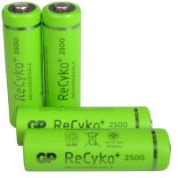 Аккумулятор никель-металлогидридный Ni-MH AA GP ReСyko, 1.2V (2450mAh), 4шт. в блистере