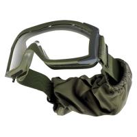 Очки тактические Bolle X1000 с прозрачными линзами, футляр, nato green