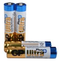 Батарейка щелочная Alkaaline AAA Ultra plus (24AUPHM-2UE4, LR03, AUP) GP 1.5V (4шт, блистер)