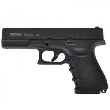 Пистолет сигнальный, стартовый Retay G19C-U, Glock 19 (9.0мм), черный ― Фонаревка