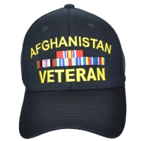 Кепка Eagle Crest Afghanitan Vet W/Ribbons (Stretch Fit), черная