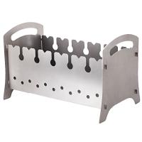 Мангал для шашлыков складной КЕМПИНГ Поход BQ-1559 (6-местный), углеродистая сталь