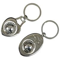 Брелок для ключей Футбольный мяч/Сердце, стальной
