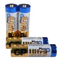 Батарейка щелочная Alkaaline AA Ultra plus (15AUPHM-2UE4, LR6) GP 1.5V (4шт, блистер)