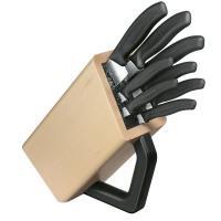 Набор кухонных ножей Victorinox Swissclassic (8 предметов) с подставкой, черный 6.7173.8