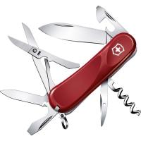 Нож складной, мультитул Victorinox Evolution S14 (85мм, 14 функций), красный 2.3903.SE