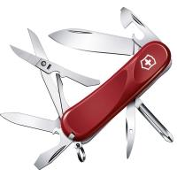 Нож складной, мультитул Victorinox Evolution S16 (85мм, 14 функций), красный 2.4903.SE