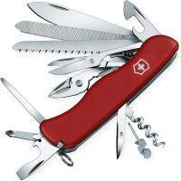 Нож складной, мультитул Victorinox Workchamp (111мм, 21 функций), красный 0.9064
