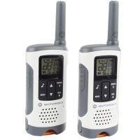 Рация Motorola TLKR T50 (0.5W, PMR446, 446 MHz, до 6 км, 8 каналов, 4xAAA), комплект 2шт, бело-серая