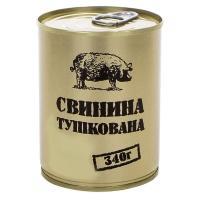 Тушенка из свинины, консерва (340г), ж/б