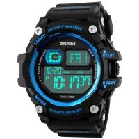 Watches Skmei Mod.1229, black / blue, in metal box