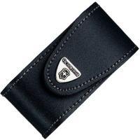 Чехол для ножей Victorinox (84-91мм, 5-8 слоев) кожаный, на липучке, пов. клипом, черный 4.0521.31