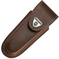 Чехол на пояс Victorinox (91мм, до 4х слоев), кожаный, коричневый, на липучке 4.0537