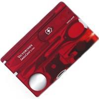 Набор Victorinox Swisscard Lite (82х54х4мм, 13 функций), красный прозр. 0.7300.Т