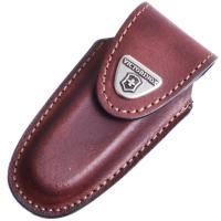 Чехол для ножей Victorinox (84-91мм, 2-4 слоя) на липучке, кожаный, коричневый 4.0533