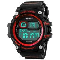 Watches Skmei Mod.1229, black / red, in metal box