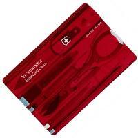 Набор Victorinox Swisscard (82х54х4мм, 10 функций), красный 0.7100.T