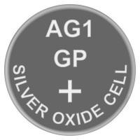 Батарейка часовая серебро-цинк, Silver oxide G1 (364, SR60, V364, SR621SW) GP, 1.55v