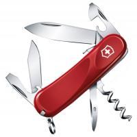 Нож складной, мультитул Victorinox Evolution S101 (85мм, 12 функций), красный 2.3603.SE