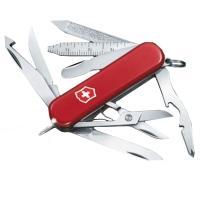 Нож складной, мультитул Victorinox Midnite Minichamp (58мм, 16 функций), красный 0.6386