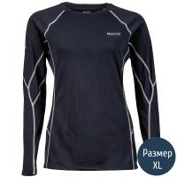 Термокофта женская MARMOT Wm's ThermalClime Sport LS Crew (100 г/м2, XL), black 12740.001-XL