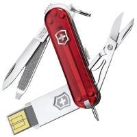 Нож складной, мультитул Victorinox Work (58мм, 7 функций, USB-флеш (16Гб)), красный 4.6125.TG16B