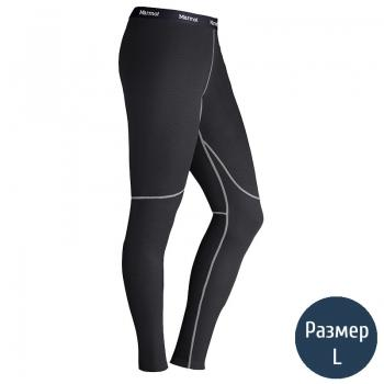 Термоштаны женские MARMOT Wm's ThermalClime Sport Tight (100 г/м2, L), black 12760.001-L