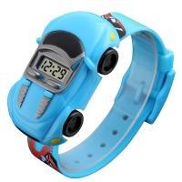 Часы детские Skmei Машинка 1241, синие, в металлическом боксе