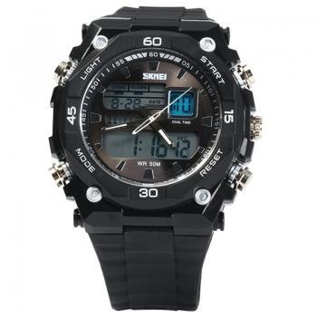 Часы Skmei 1092, черный-белый, в металлическом боксе