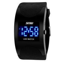 Часы LED Skmei 0951, черные, в металлическом боксе