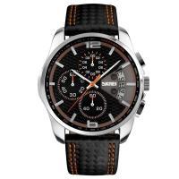 Часы Skmei 9106, оранжевые, в металлическом боксе