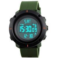 Часы Skmei 1215, армейский зеленый, в металлическом боксе