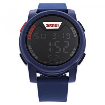 Часы Skmei 1218, синие, в металлическом боксе