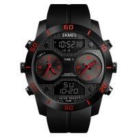Часы Skmei 1355, красные, в металлическом боксе