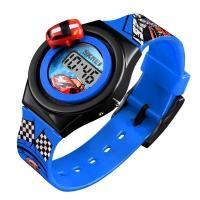 Часы детские Skmei 1376 с машинкой, синие, в металлическом боксе