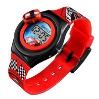 Часы детские Skmei 1376 с машинкой, красные, в металлическом боксе