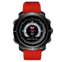Часы, смарт-браслет Skmei W30, черный-красный, в металлическом боксе