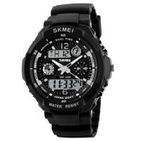 Часы Skmei 0931, черный-белый, в металлическом боксе