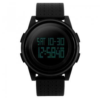 Часы Skmei 1206, черные, в металлическом боксе